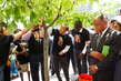 UN Celebrates Nelson Mandela Day, Tends to Newly Planted Trees 9.506357