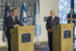 Secretary-General and President of Israel Brief the Press 3.2046812