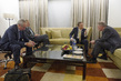 Secretary-General Confers with Advisors, Cairo 3.7540615