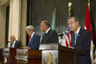 Secretary-General Addresses Press with US and Foreign Ministers, Head of Arab League