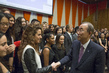 Secretary-General Meets United Nations Interns