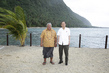 Secretary-General Visits Community Displaced by Tsunami with Prime Minister of Samoa 3.7637959