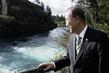 Secretary-General Visits Huka Falls, New Zealand 2.8653216