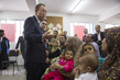 Secretary-General Meets IDPs at UNRWA Collective Centre in Gaza 3.7665074