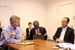 Head of UNMEER Briefs World Bank President on Fight Against Ebola