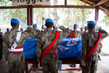 Memorial Ceremony for Two MINUSCA Peacekeepers 5.23095