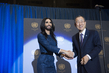 Secretary-General Meets Conchita Wurst 5.899431
