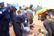 MINUSCA Police Commissioner on Foot Patrol in Bangui 3.4225836