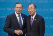 Australian Prime Minister Welcomes Secretary-General to 2014 G20 Summit, Brisbane 3.7626297