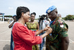 Medal Ceremony for Ghanian Peacekeepers in Côte d'Ivoire 4.6672325