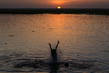 A Child in the Niger River in Gao, Mali 4.640581