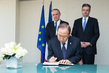 Secretary-General Signs Condolence Book at French Mission to UN 4.4269185