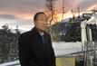 Secretary-General Arrives in Davos 1.0