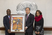 Secretary-General Receives Artwork by Student from Trinidad and Tobago 13.083868