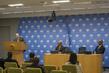 Deputy Permanent Representative of Sao Tome and Principe brief the press on Ebola Relief Concert 3.1853695