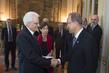 Secretary-General Meets President of Italy 3.754211
