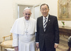 Secretary-General Meets Pope Francis