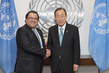 Secretary-General Meets Foreign Minister of Honduras