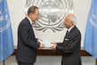 New Permanent Observer for Parliamentary Assembly of Mediterranean Presents Credentials