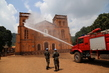 MINUSCA Peacekeepers Assist in Refurbishing Bangui Cathedral