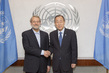 Secretary-General Meets Speaker of Iranian Parliament 1.0