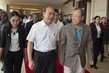 Secretary-General Walks with Secretary of the CPC Tai'an Committee 3.7486868