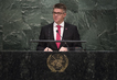Foreign Minister of Iceland Addresses General Assembly 3.2110543