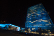 UN Headquarters Lights Up in Blue to Celebrate 70th Anniversary 8.567525