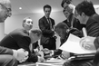 Secretary-General Discusses Draft Text with His Advisors at COP21, Paris 5.5358253