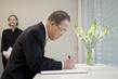 Secretary-General Signs Condolence Book at Permanent Mission of Belgium 2.8394003