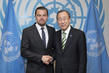 Secretary-General Meets UN Messenger of Peace Leonardo Dicaprio 1.0