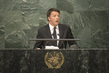 Prime Minister of Italy Addresses Signing Ceremony for Paris Agreement 4.344122