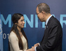 Secretary-General Meets Yazidi Human Rights Activist in Istanbul
