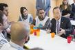 Secretary-General Meets Refugees, Volunteers, in Brussels 12.625244