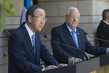 Secretary-General Briefs Press with President of Israel
