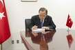 Secretary-General Signs Condolence Book at Permanent Mission of Turkey