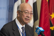 Security Council President Briefs Press on Syria, Libya