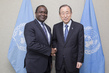 Secretary-General with Outgoing Permanent Representative of Sierra Leone