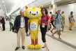 UN Spokesperson Meets Rio 2016 Olympic Games Mascot 7.251647