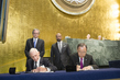 Summit for Refugees and Migrants, Signing Ceremony of UN-IOM Agreement 1.0