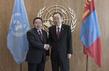 Secretary-General Meets President of Mongolia 2.8208213