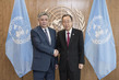 Secretary-General Meets with Foreign Minister of Kyrgyzstan 2.8208213