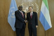 Secretary-General Meets President of Sierra Leone 2.8208213