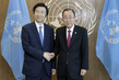 Secretary-General Meets Foreign Minister of Republic of Korea 2.8208213