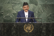 Foreign Minister of Nepal Addresses General Assembly 3.2120113