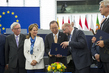 Secretary-General Attends Session of European Parliament on Paris Agreement 6.6191053