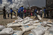 Distribution of Disaster Relief in Les Cayes Haiti