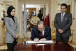 Secretary-General Signs Book of Condolences at Mission of Qatar 2.8183079