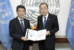 Secretary-General Meets Permanent Representative of Republic of Korea 2.819757