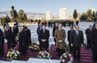 Flower laying Ceremony at Ashgabat Turkmenistan Independence Monument 2.2549298